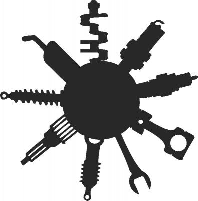 Tools Clock Free CDR Vectors Art