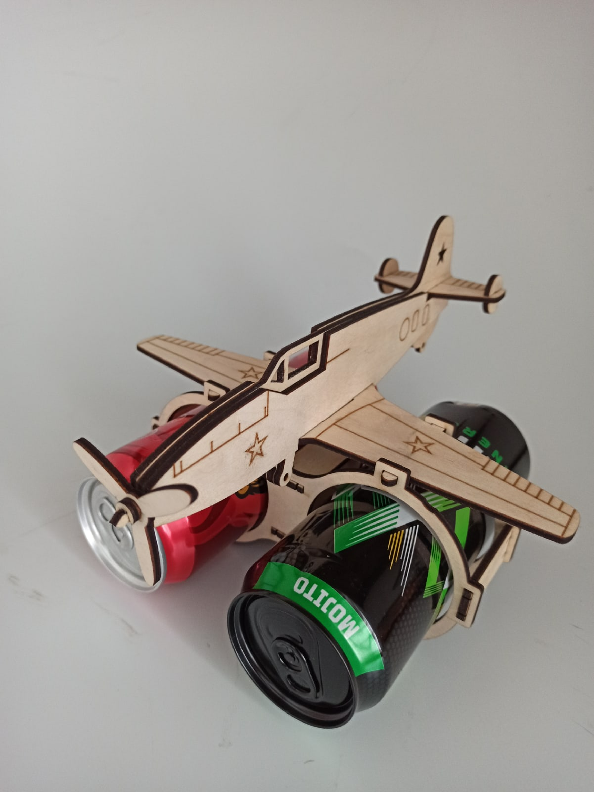 Laser Cut Aircraft Shaped Beer Holder Free CDR Vectors Art