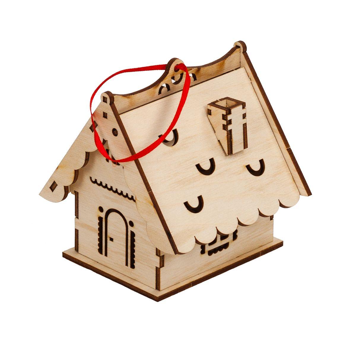 Laser Cut Simple Wooden House Free CDR Vectors Art