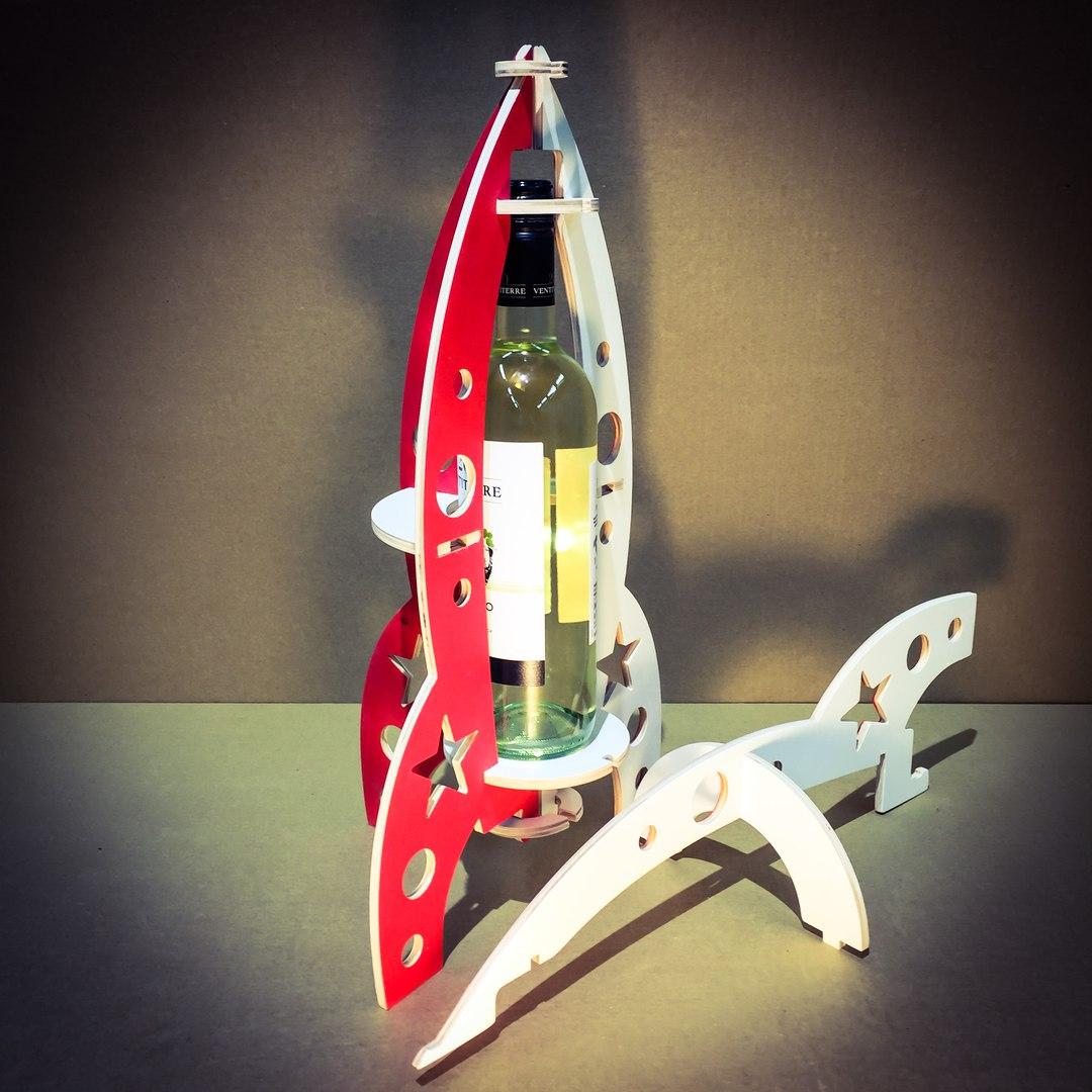 3mm Rocket Wine Box Free CDR Vectors Art