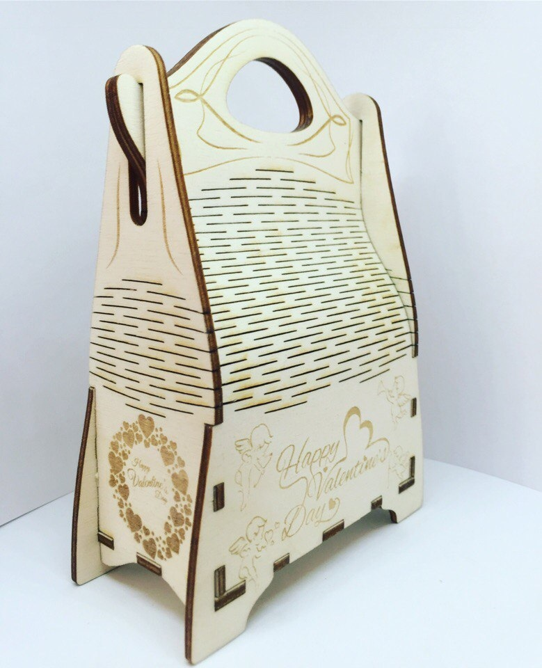 Champagne Gift Box Wooden Champagne Wine Bag Free CDR Vectors Art