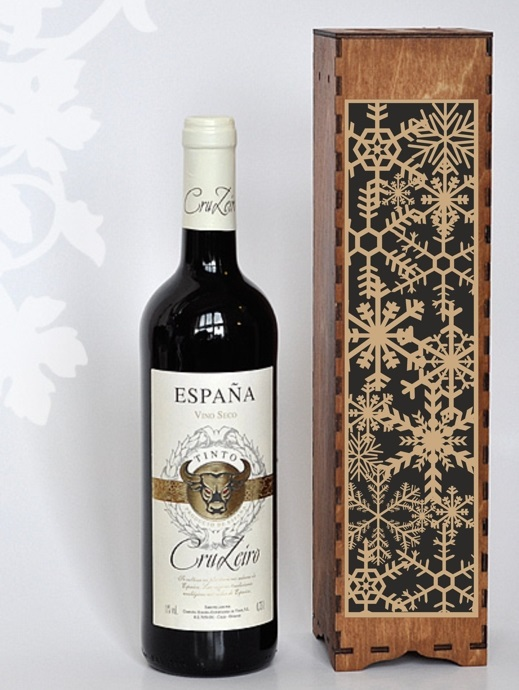 Laser Cut Decorative Wine Bottle Packaging Gift Boxes Free CDR Vectors Art