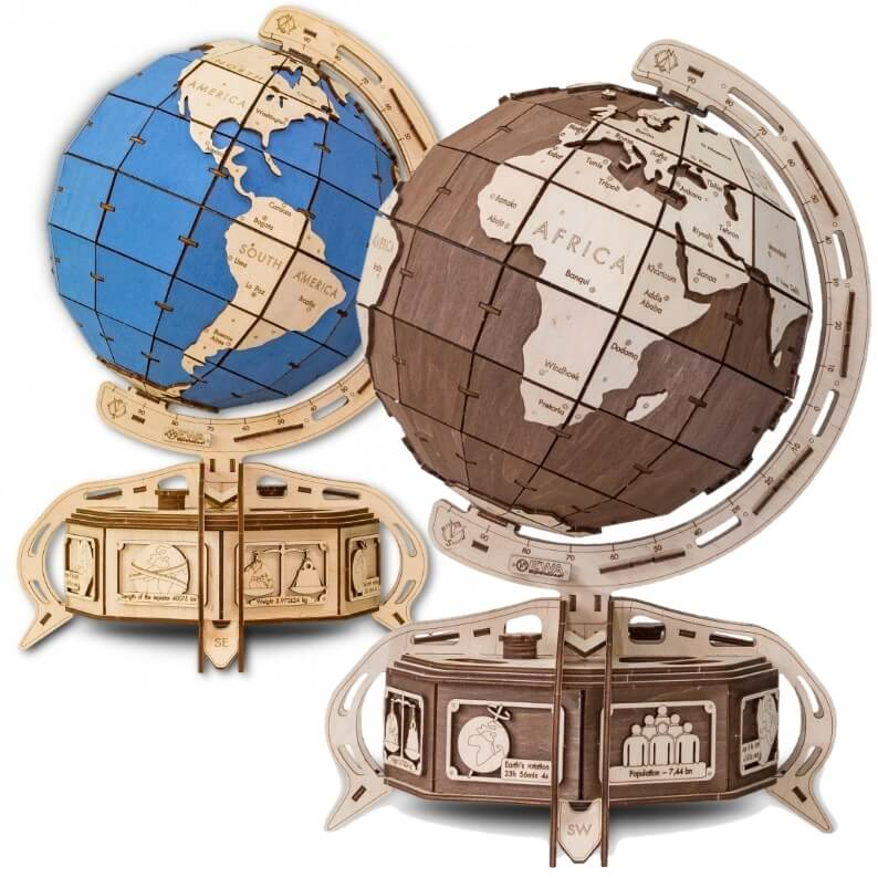 Laser Cut Globe Jewelry Box Free CDR Vectors Art
