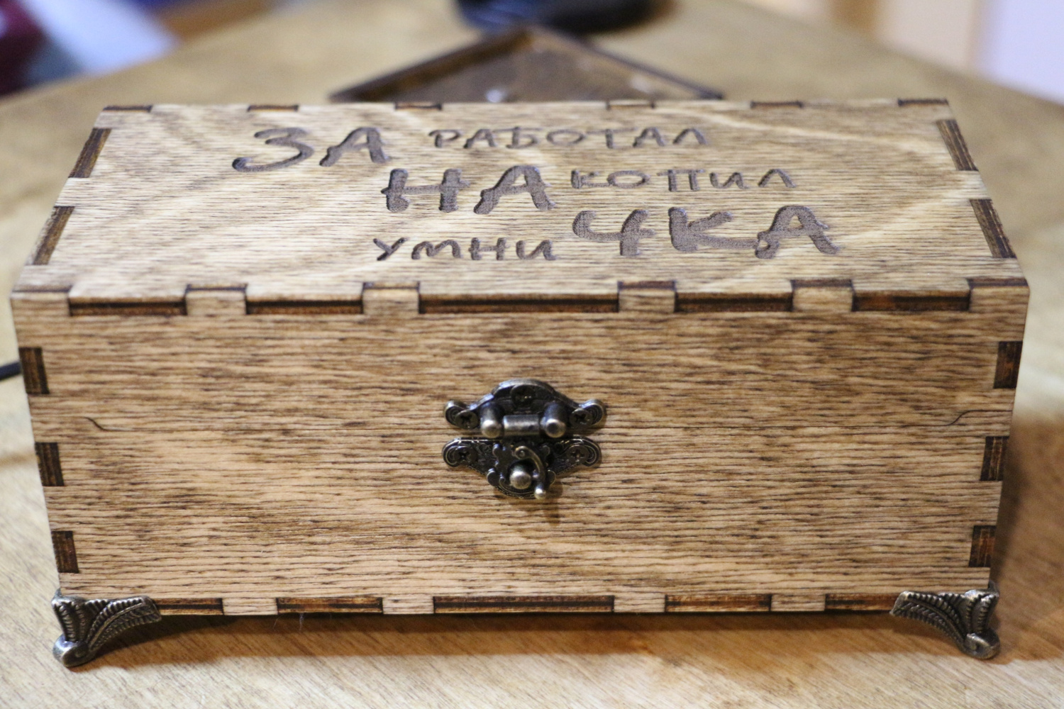 Laser Cut Wooden Box With Hinged Lid Free CDR Vectors Art