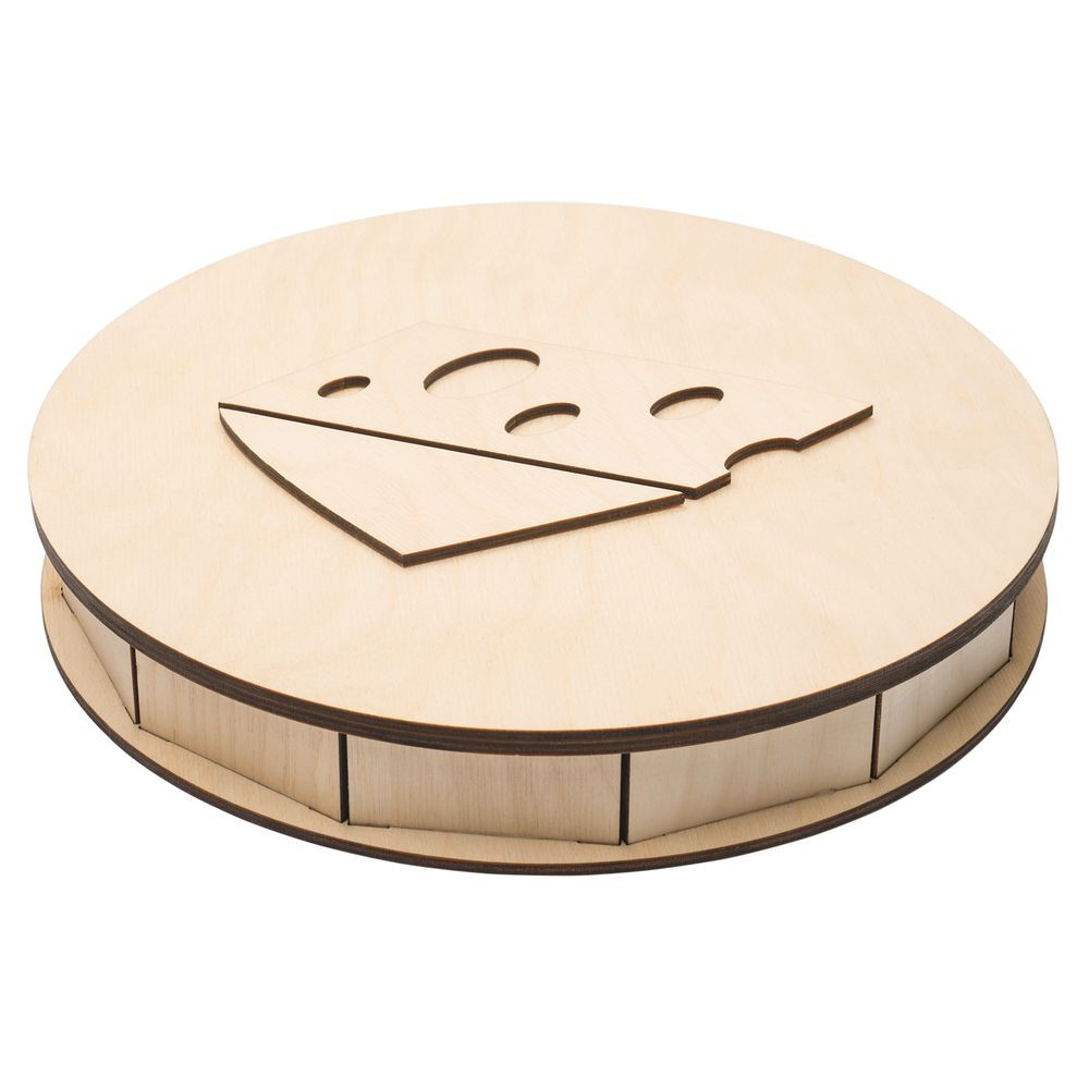Wooden Cheese Box 4mm Free CDR Vectors Art