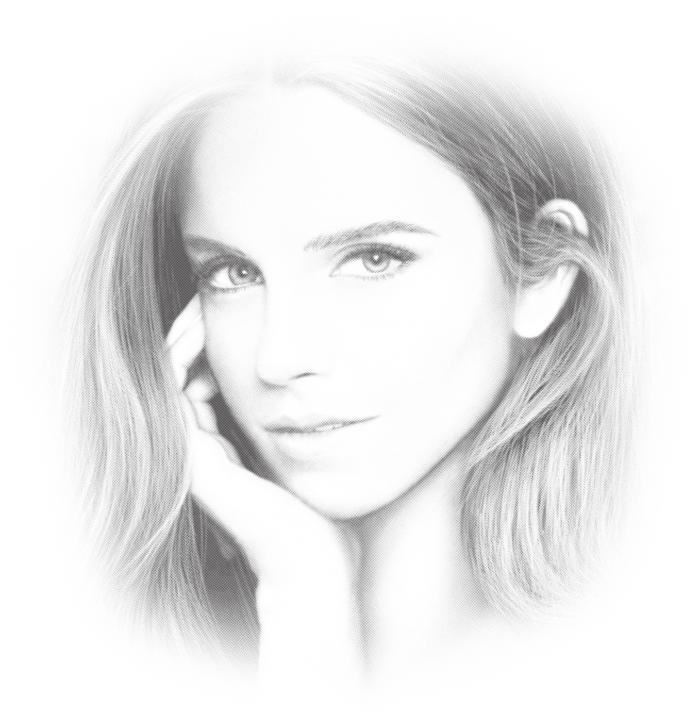 Laser Cut Engrave Emma Watson Portrait Free CDR Vectors Art