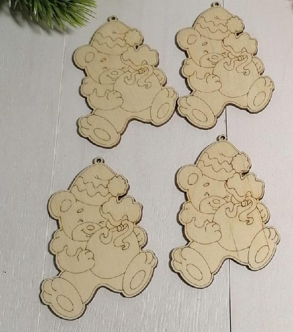 Laser Cut Engraved Wooden Magnets Free CDR Vectors Art