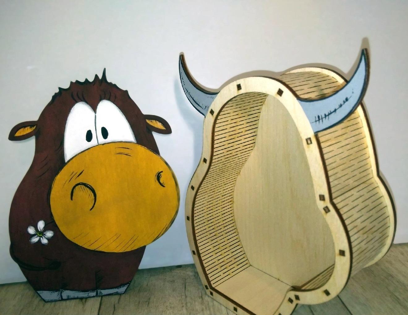 Wooden Animal Gift Box Free CDR Vectors Art