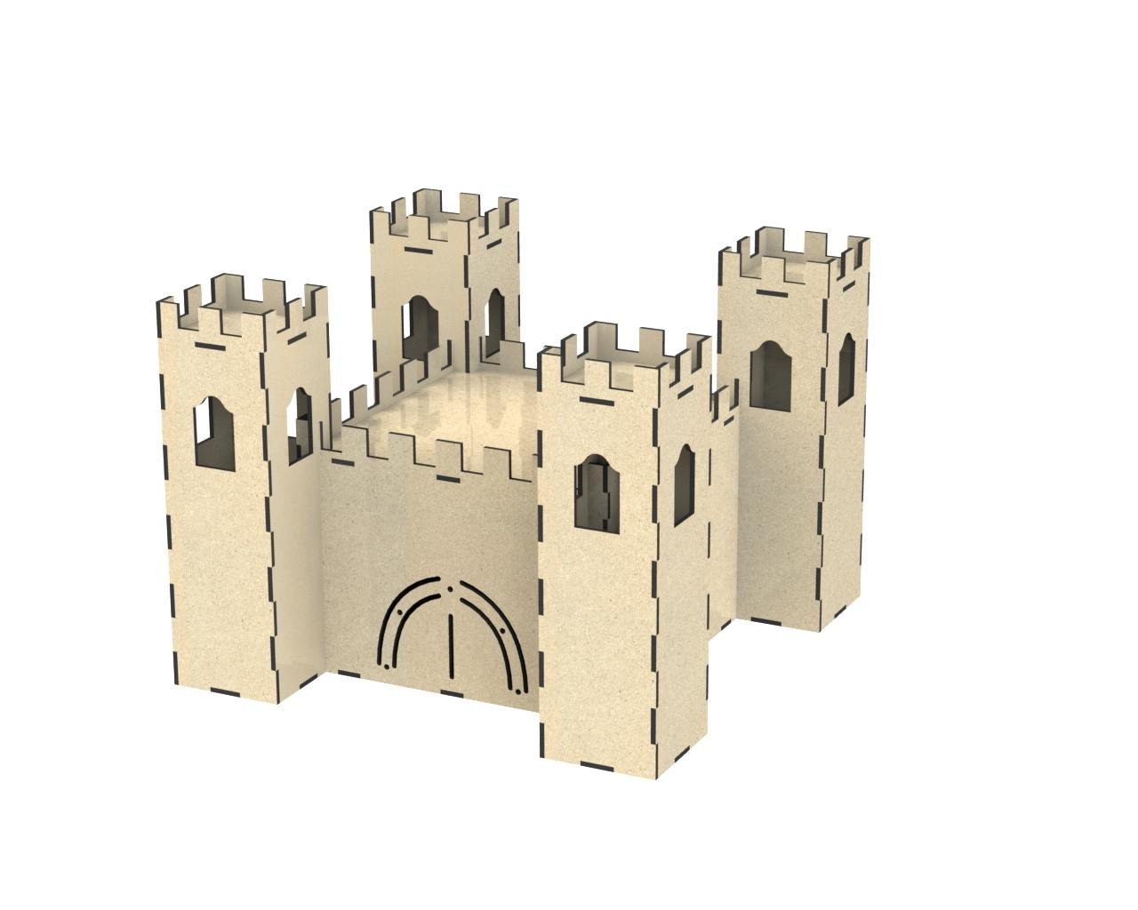 Castle Dollhouse Free DXF File