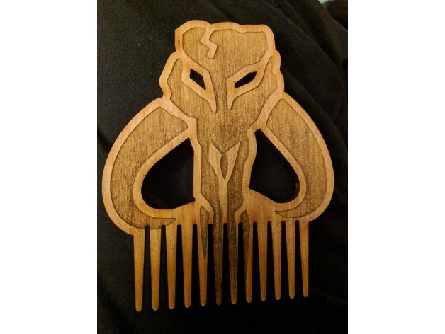 Laser Cut Beard Comb Free DXF File