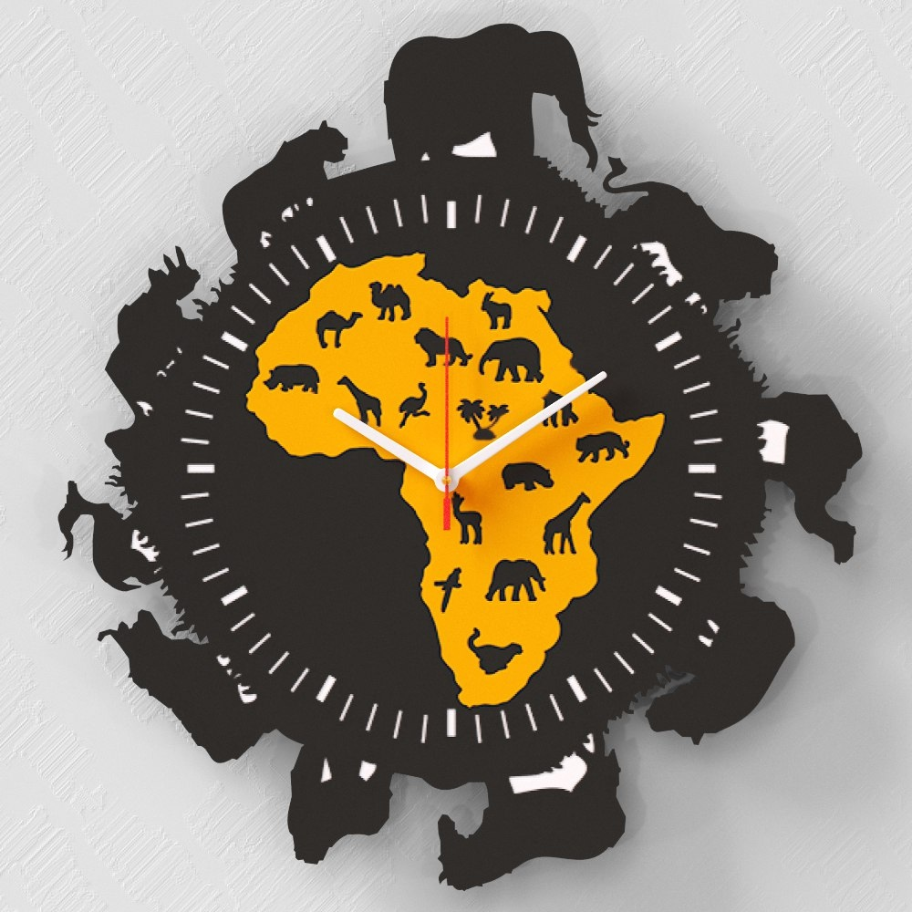 Layout Of Clock Africa Free CDR Vectors Art