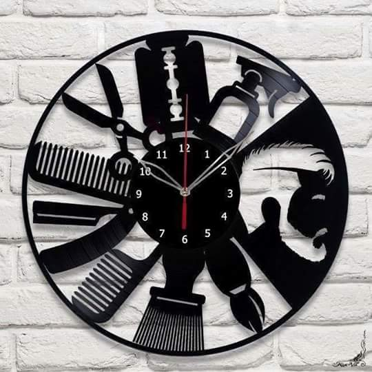 Tiktok Studio Barber Shop Vinyl Wall Clock Barber Shop Wall Art Barbershop Decor Barbershop Gifts For Barber Free CDR Vectors Art