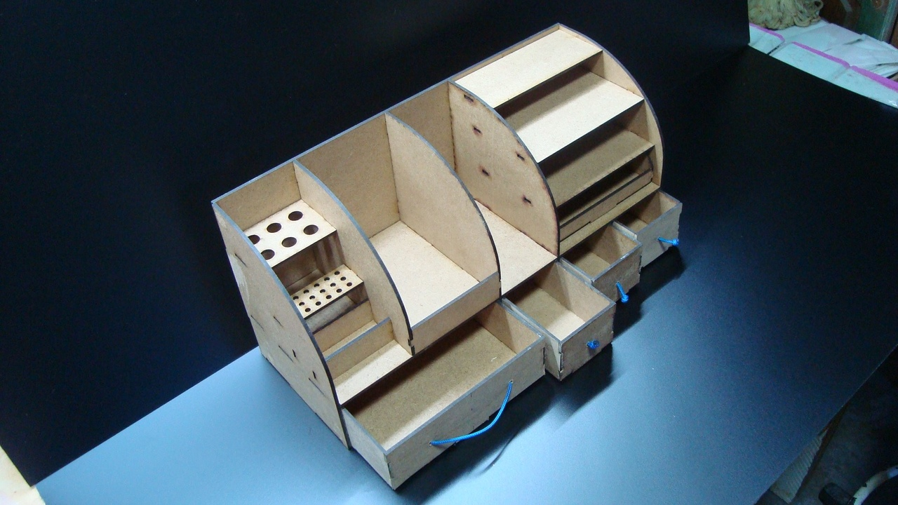 Laser Cut Organizer Pattern Wood Projects Plans Cnc Wood Desk Organizer Box Free CDR Vectors Art