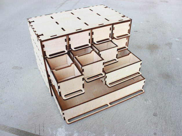 Drawer Organizer Laser Cut Plan Free CDR Vectors Art