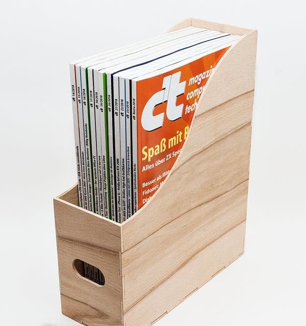 Laser Cut Magazine Holder Magazine Organizer Free CDR Vectors Art