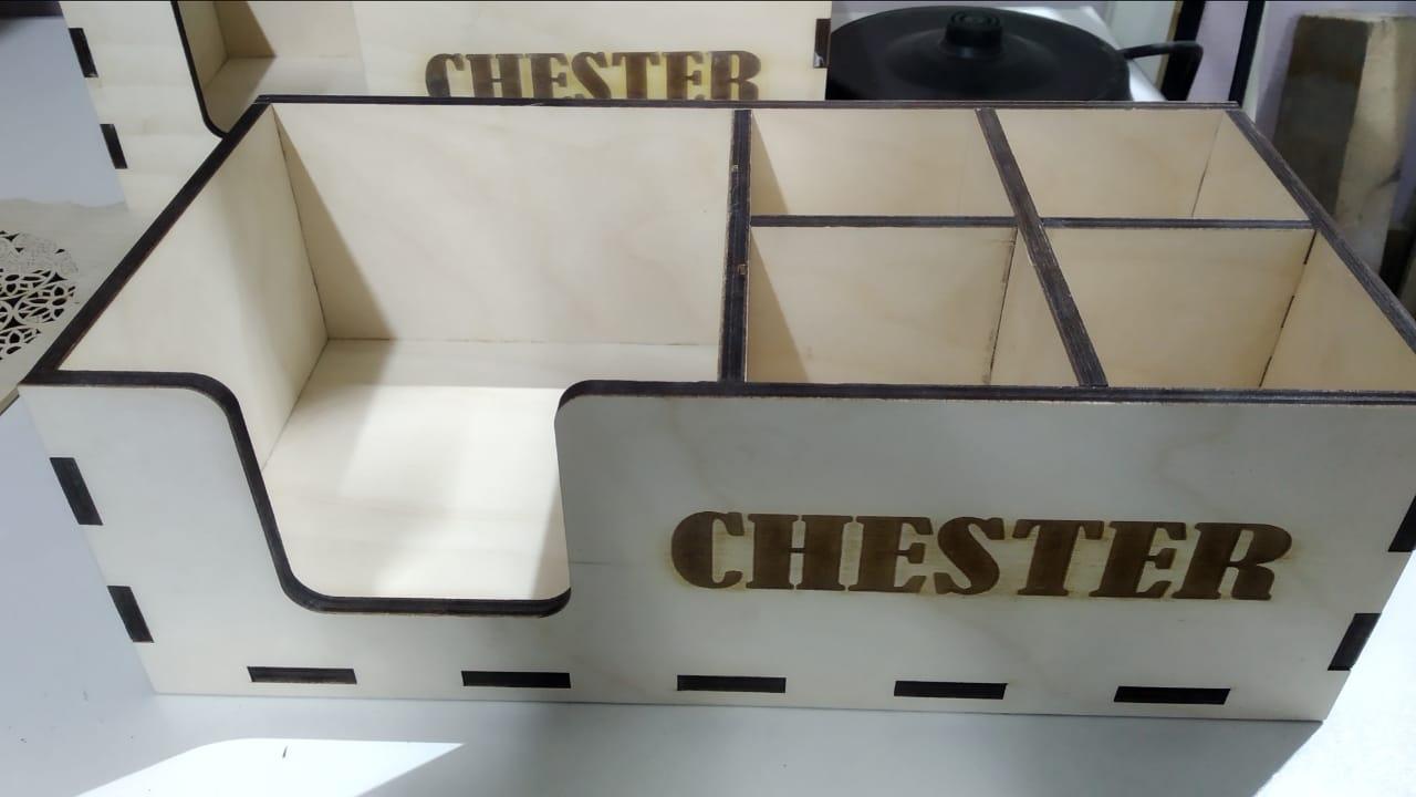 Lasercut Organiser Shelf Free CDR Vectors Art