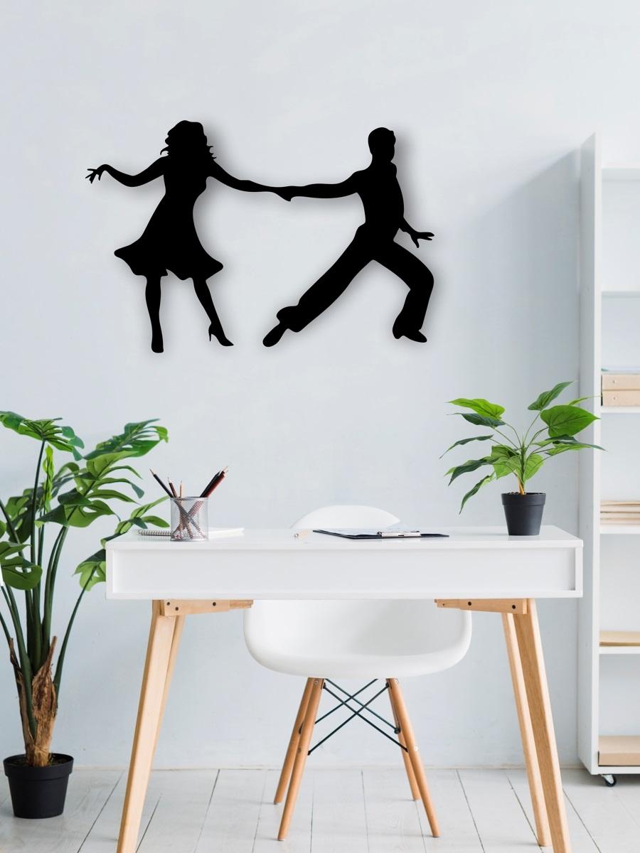 Laser Cut Dancing Couple Wall Art Free CDR Vectors Art