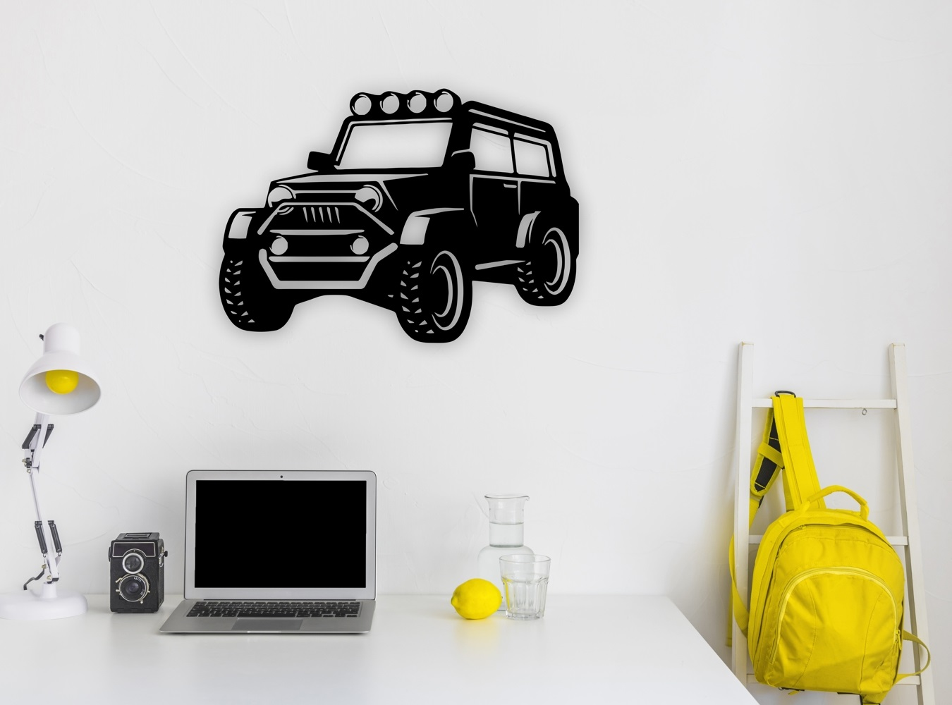 Laser Cut Jeep Wall Art Free CDR Vectors Art
