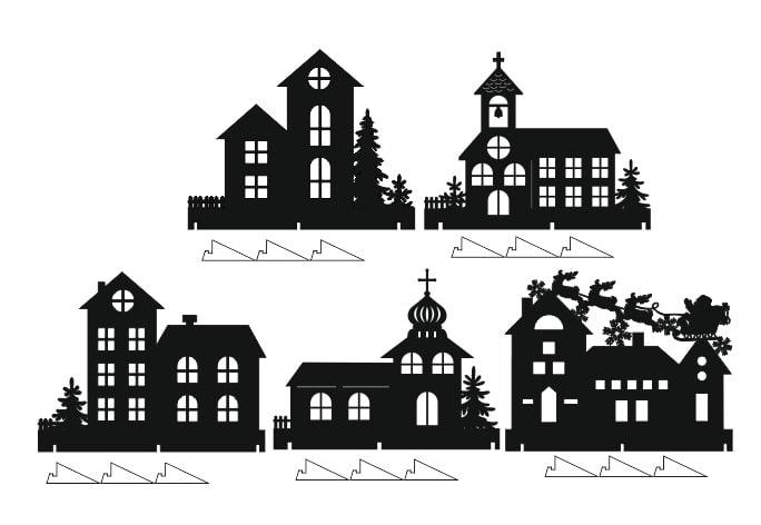 Laser Cut Window Decor Houses Window Sill Decorating Ideas Free CDR Vectors Art