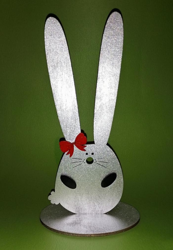 Laser Cut Bunny Hairband Stand Headband Holder Hairclip Showcase Free CDR Vectors Art