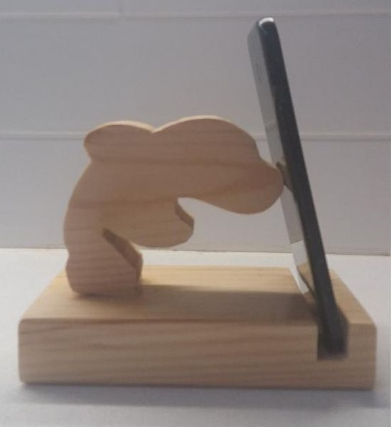 Laser Cut Dolphin Phone Stand Free CDR Vectors Art