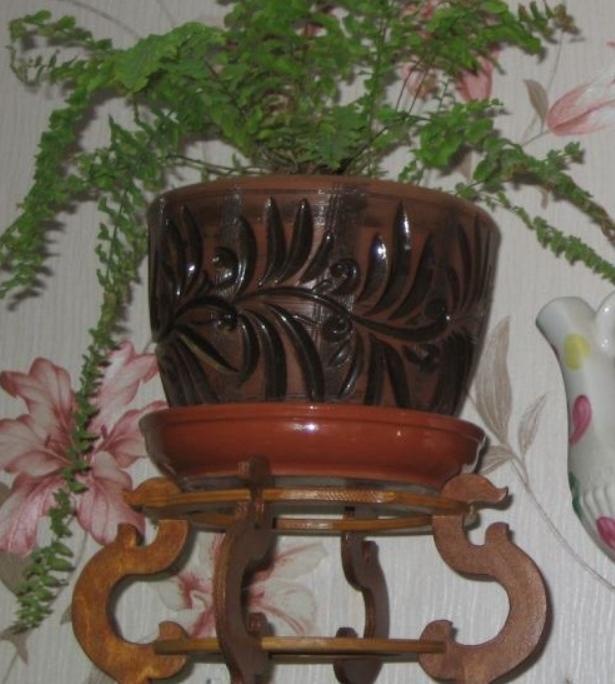 Laser Cut Flower Pot Stand Decorative Plant Stand Free CDR Vectors Art