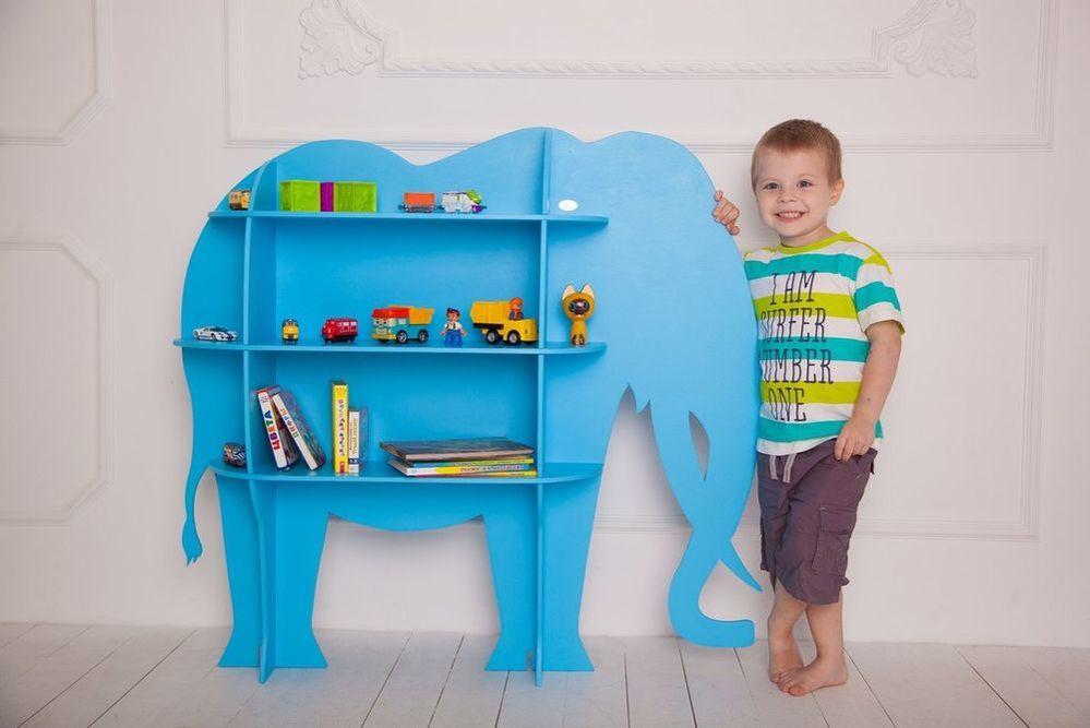 Laser Cut Wood Elephant Shelf Shelf Furniture For Kids Room Free CDR Vectors Art