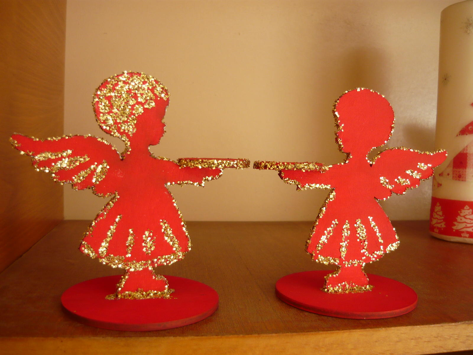 Laser Cut Angel Candle Holder Free CDR Vectors Art