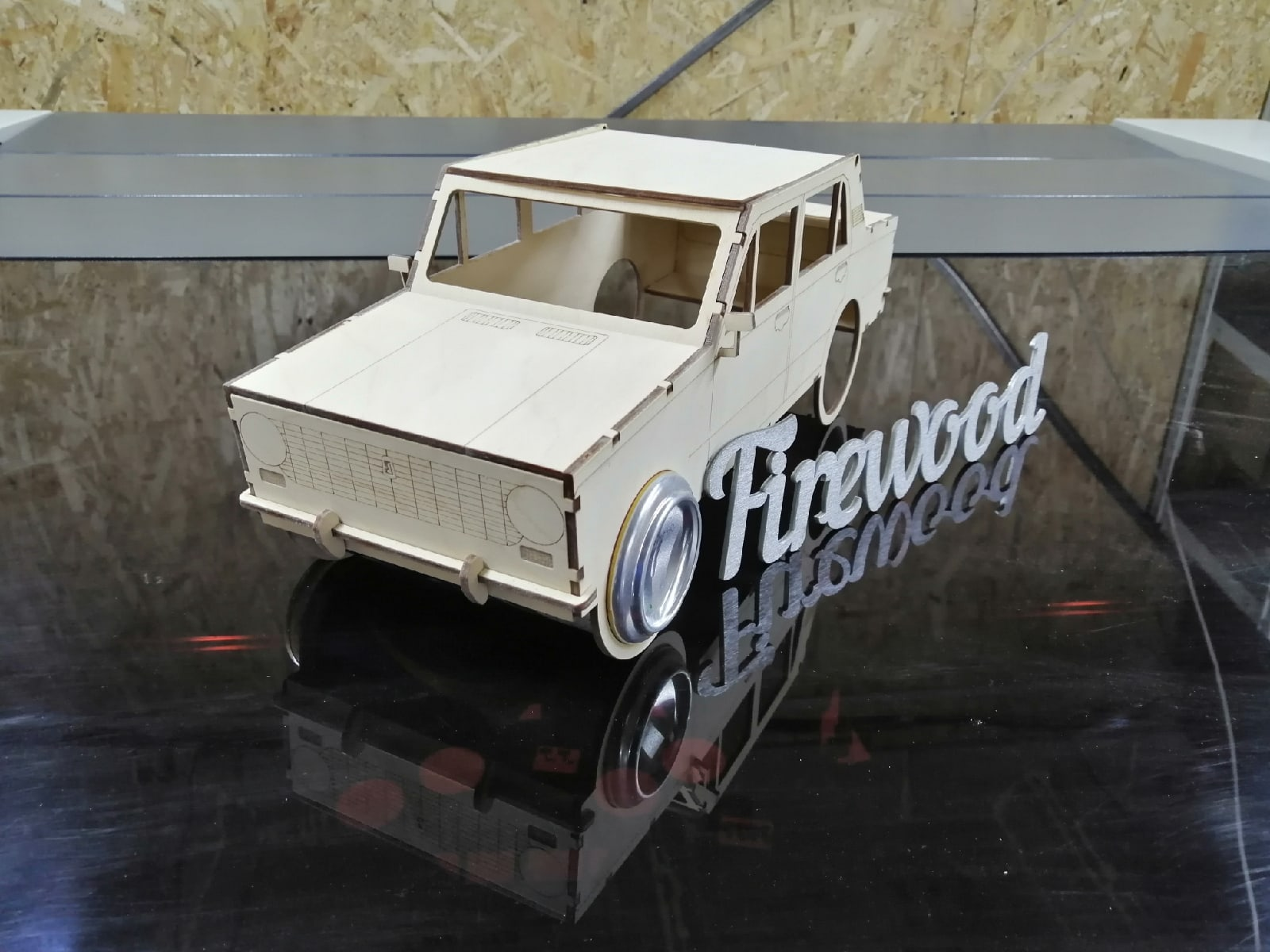 Laser Cut Car Model Beer Holder Free CDR Vectors Art