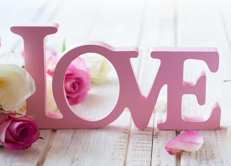 Laser Cut Valentine Day Concept Love Decor Letters Free CDR Vectors Art