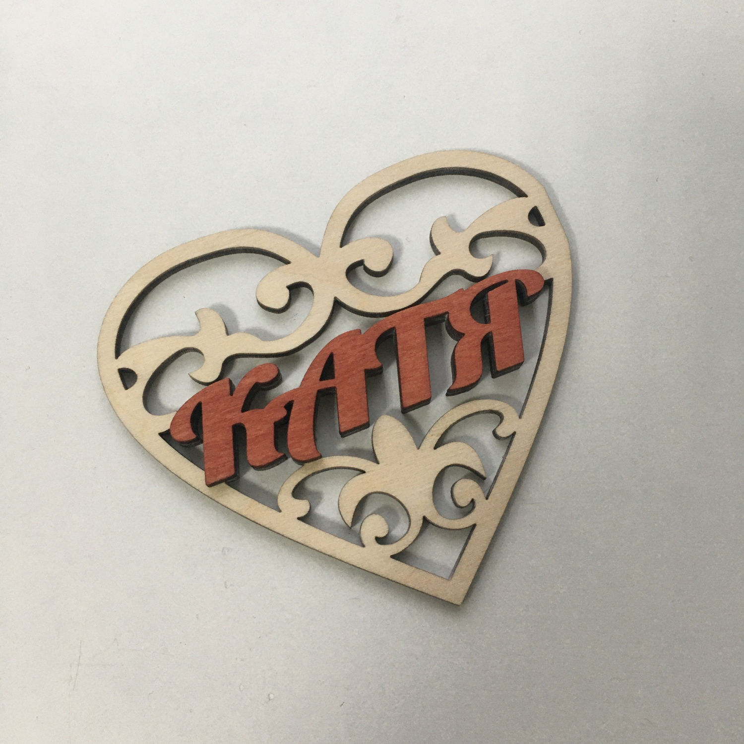 Laser Cut Valentine Wood Decor Free CDR Vectors Art