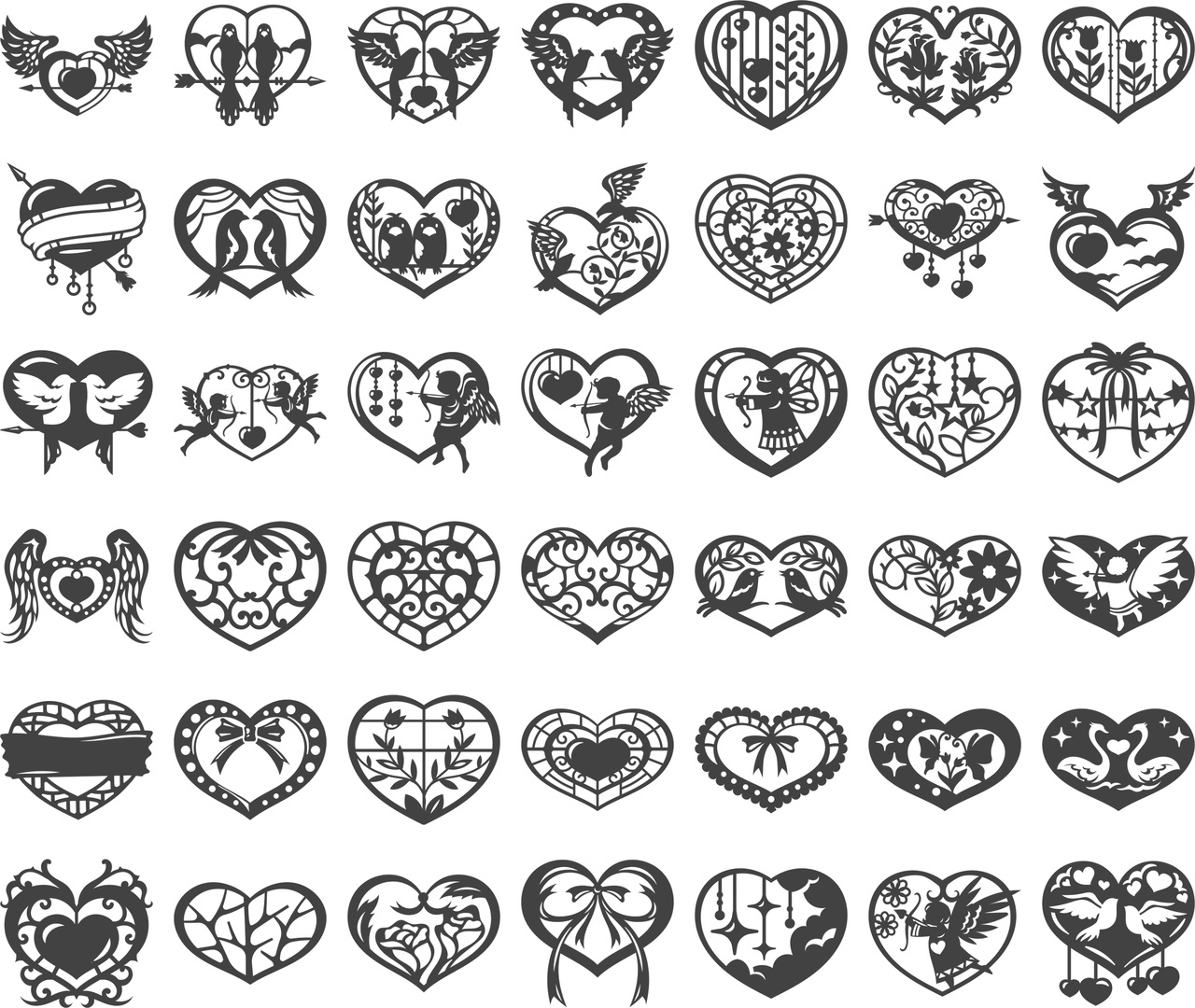 Valentine Collection Free CDR Vectors Art