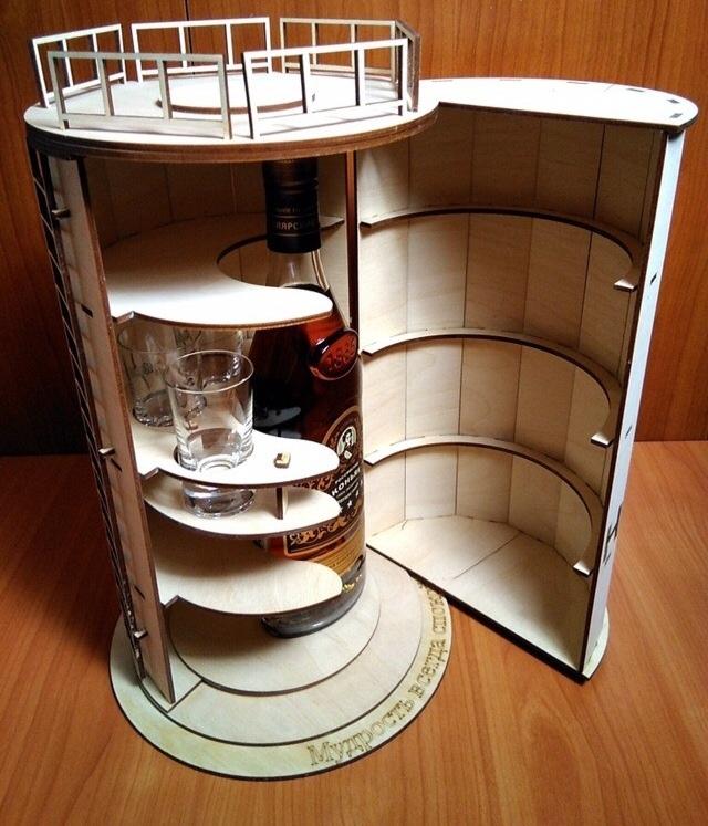 Laser Cut Barrel Mini Bar Free CDR Vectors Art
