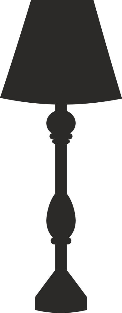 3d Lamp Silhouette Design Free DXF File