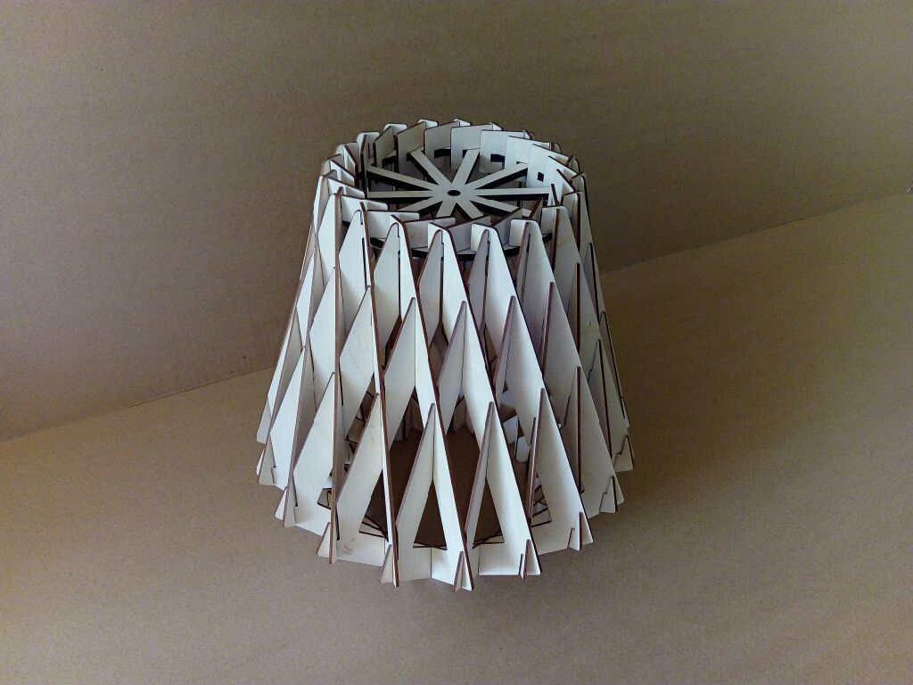 Lasercut Wooden Decorative Lamp Brilliant x3 Free DXF File