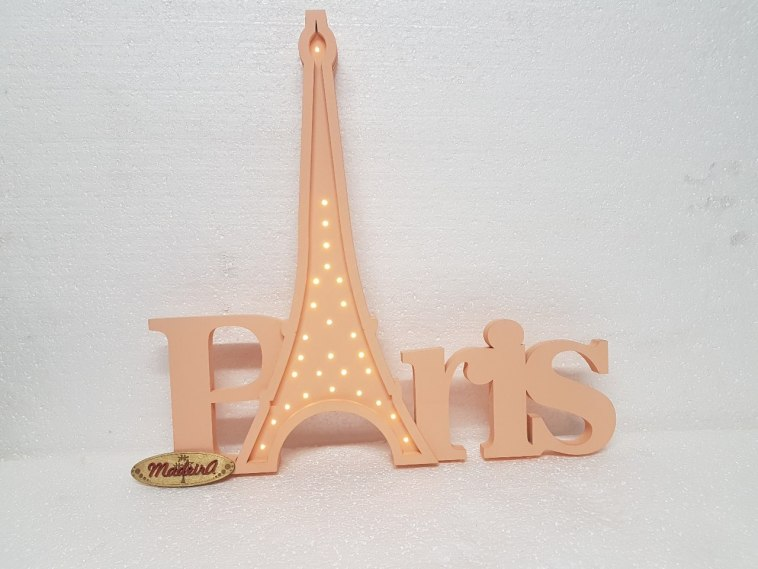 Paris Wooden Night Light Lamp Decorative Lasercut Free DXF File