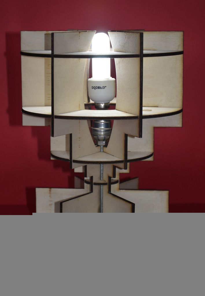 Wooden Lari Lamp Decorative Free DXF File