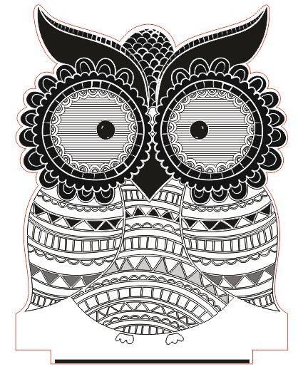 Owl Led Illusion Free CDR Vectors Art
