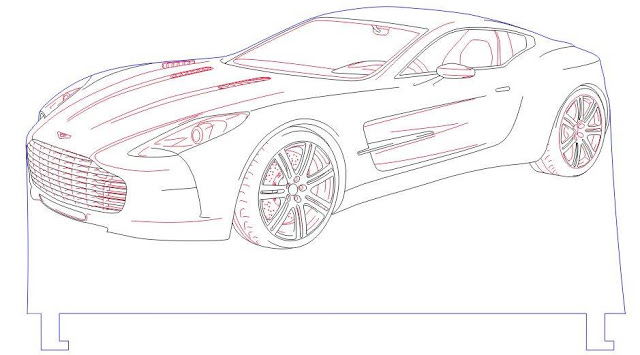 Sport Car Led Illusion Free CDR Vectors Art