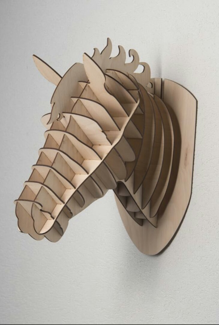 Laser Cut Horse Head Wall Decor Free CDR Vectors Art