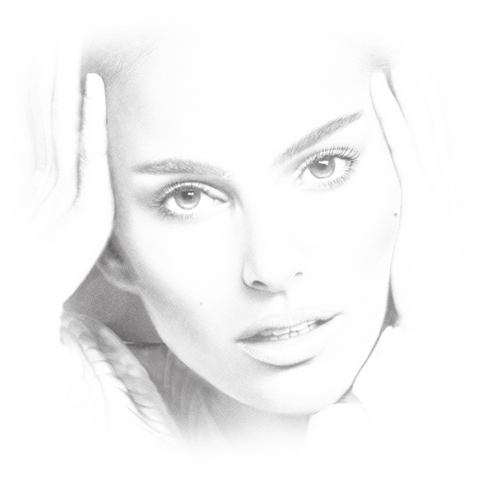 Laser Cut Engrave Natalie Portman Pencil Drawing Portrait Free CDR Vectors Art