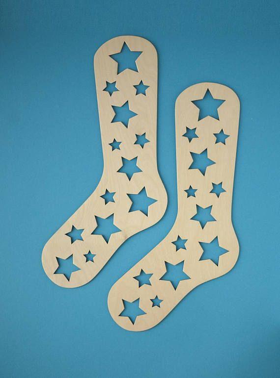 Laser Cut Wooden Sock Blockers Free CDR Vectors Art