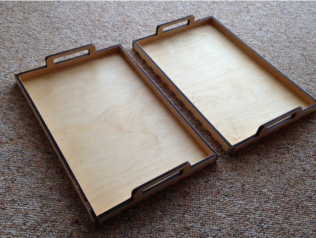 Laser Cut Trays Free DXF File