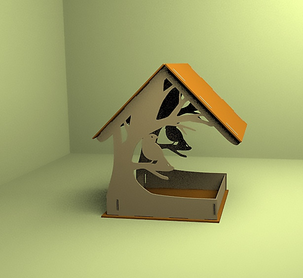 Laser Cut Bird Feeder Bird Feed Trough 4mm Free CDR Vectors Art