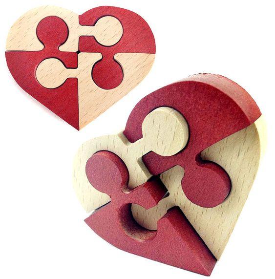 Laser Cut Heart Puzzle Free CDR Vectors Art
