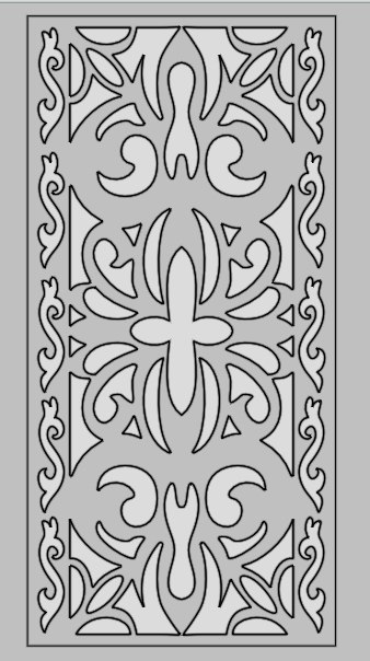 Laser Cut Decorative Pattern Panel Screen Art Free DXF File