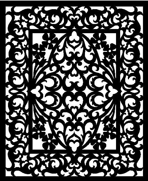 Laser Cut Decorative Pattern Panel Screen Free DXF File