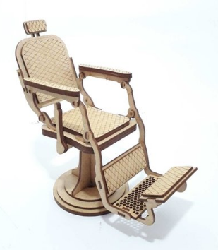 Laser Cut Barber Chair Drawing Free DXF File