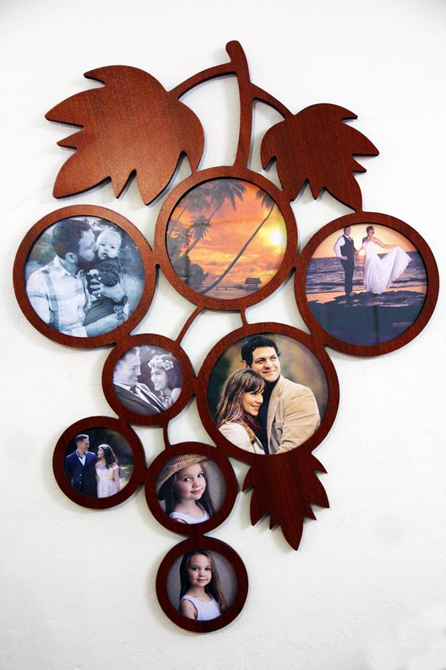 Laser Cut Family Patterned Photo Frame Free CDR Vectors Art
