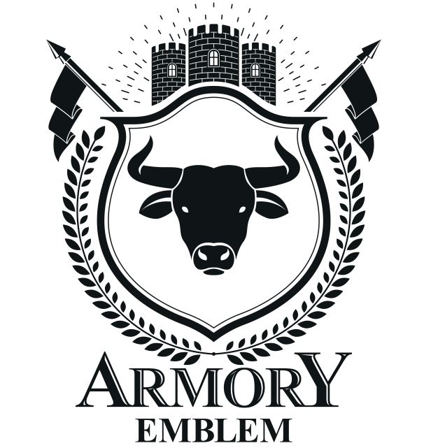 Armory Emblem Design Logo Badge Free CDR Vectors Art